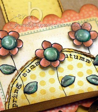 JennB Doodle Flower Date Me Seasons Card Detail1