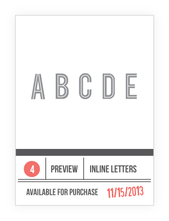 INLINE LETTERS PREVIEW