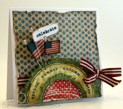 Jenn Biederman Date Me Seasons 4th of July Card