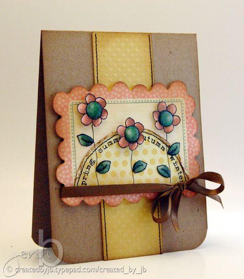 JennB Doodle Flower Date Me Seasons Card