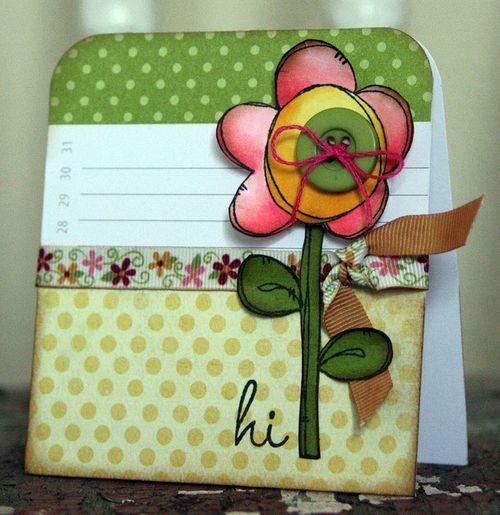 JennB Single Heart Flower Card