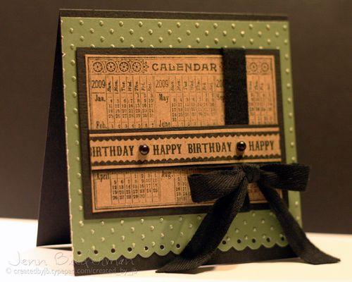 Happy Birthday Calendar